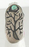 vintage sterling silver turquoise tree ring size 6 1/2