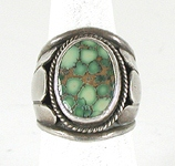 vintage sterling silver Southwest style turquoise ring size 10 1/2