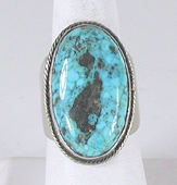 vintage sterling silver turquoise ring size 11 1/4