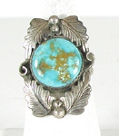 vintage sterling silver turquoise ring size 9 3/4