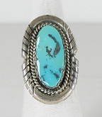 vintage sterling silver Southwest style turquoise ring size 8 1/4