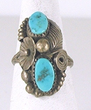 vintage sterling silver turquoise ring size 9 1/4