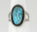 vintage sterling silver turquoise ring size 7 3/4