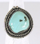 vintage sterling silver turquoise ring size 7 1/2