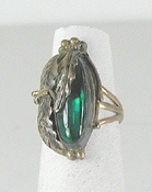 vintage sterling silver and Paua Shell  ring size 6 3/4