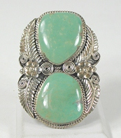 vintage sterling silver and Turquoise  ring size 11 1/2