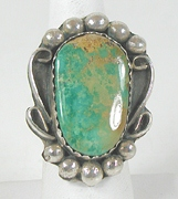 vintage sterling silver and Turquoise ring size 10 1/2