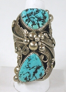 vintage sterling silver and Turquoise ring size 10 1/4
