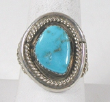 vintage sterling silver and Turquoise ring size 11 1/4