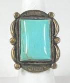 vintage sterling silver and Turquoise ring size 9 1/4