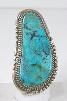 vintage sterling silver and Turquoise ring size 9 3/4