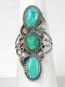 vintage Navajo sterling silver and Turquoise ring size 10