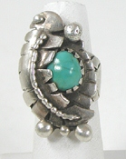 vintage sterling silver and Turquoise ring size 8 3/4