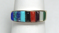 vintage sterling silver Cobblestone inlay ring size 8 1/2