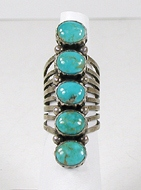 vintage sterling silver and Turquoise ring size 7 1/2