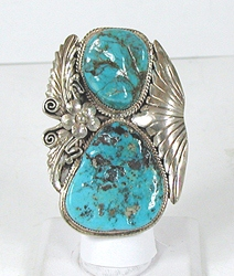 vintage sterling silver and Turquoise ring size 7 3/4