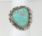 vintage Navajo sterling silver Turquoise ring size 7 1/4