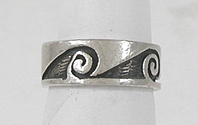 Authentic Native American vintage sterling silver Hopi ring size 7 1/2