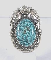 vintage sterling silver and Turquoise ring size 6 3/4