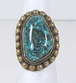 vintage Navajo sterling silver turquoise ring size 6 1/4