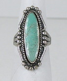 vintage Bell Trading Post sterling silve Turquoise Needle Point ring size 6