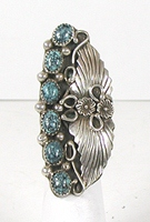 vintage sterling silver and Turquoise  ring size 4 1/4