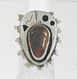 vintage sterling silver and Carnelian Ring size 4