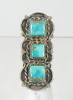 vintage sterling silver and Turquoise  ring size 3 1/2