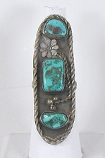 vintage sterling silver and Turquoise ring size 8 1/2