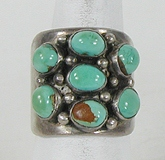 vintage sterling silver and Turquoise ring size 9 1/2