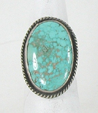 vintage sterling silver and Turquoise ring size 7 1/4