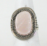vintage sterling silver and Mother of Pearl ring size 7 1/4