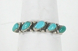 vintage sterling silver and Turquoise ring size 8