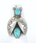 vintage sterling silver and turquoise Bug Ring size 6