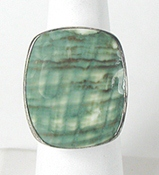 vintage sterling silver Green Stone Ring size 9