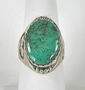 vintage sterling silver Turquoise Ring size 10 1/2